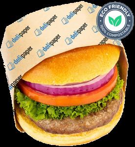 custom printed greaseproof deli paper - burger paper